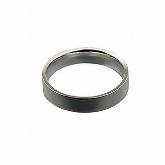 Platinum 5mm gewoon platte Hof vormige trouwring grootte Z
