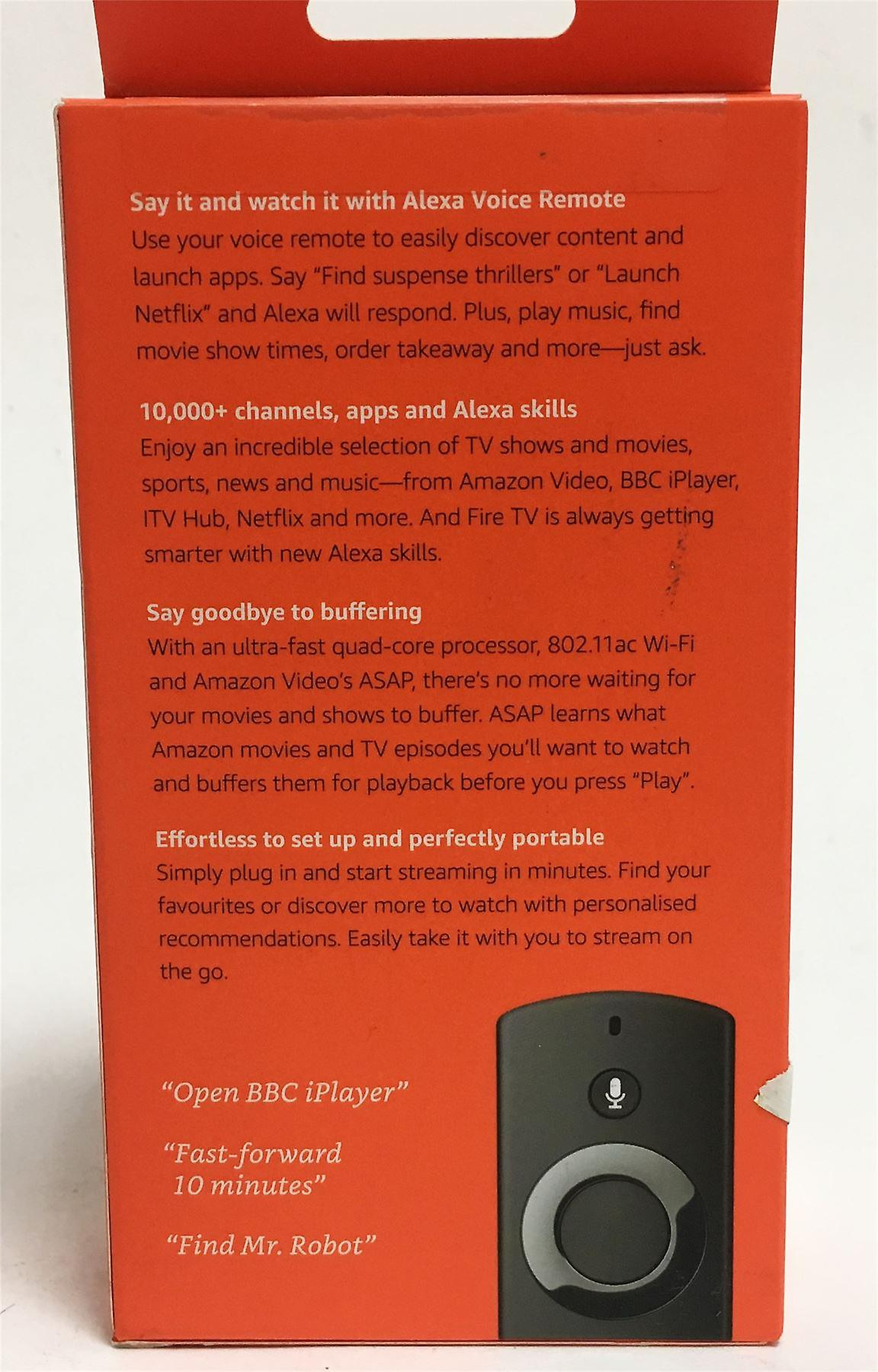 Amazon Fire TV Stick with 1st Gen Alexa Voice Remote Streaming Media Player