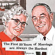First 50 Years of Marriage... single funny drinks coaster   (hb)