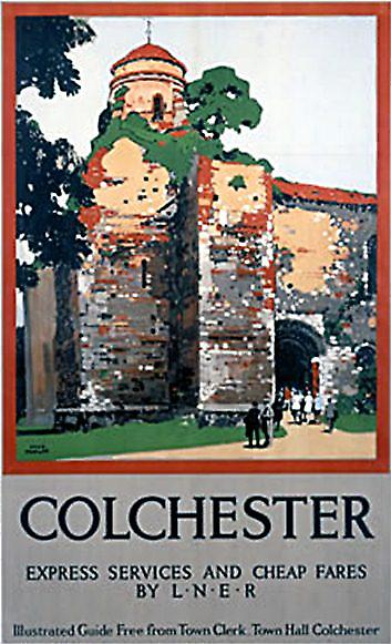 Colchester Castle (old rail ad.) fridge magnet   (se)