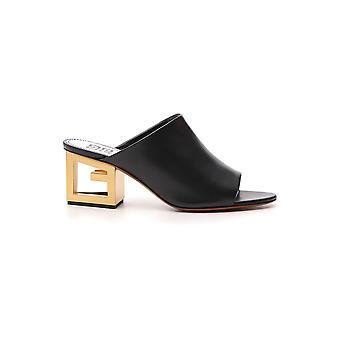 Givenchy 4g schwarz Ledersandalen