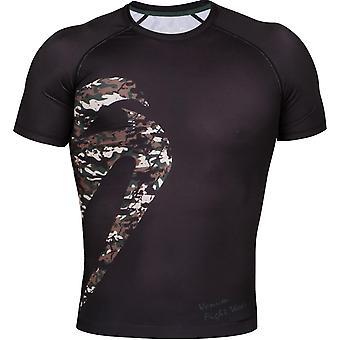 Venum Mens Original Giant Short Sleeve Rashguard - Black/Camo