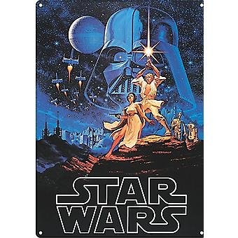Star Wars large metal sign  (hb)