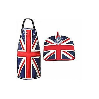 Union Jack porter couvre-théière et tablier