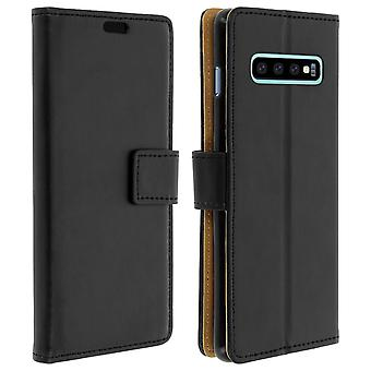 Slim Case, flip book cover, stand wallet case for Samsung Galaxy S10 - Black