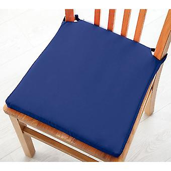 Cotton Twill Dining Chair Seat Pad Cushion - Blue
