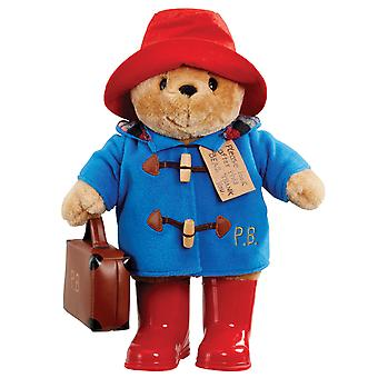 Paddington Bear with Boots Embroidered Coat & Suitcase Large