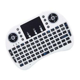 Wireless keyboard with Touch & LED, QWERTY-White
