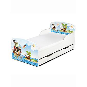 PriceRightHome Pirates Toddler seng med under seng opbevaring