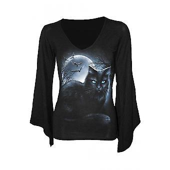 Spiraal-mystieke Moonlight-Womens-Goth mouw top