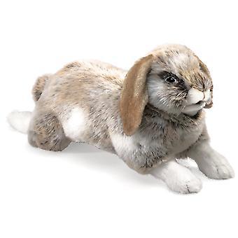 Hand Puppet - Folkmanis - Rabbit Holland Lop New Animals Soft Doll Plush 2892
