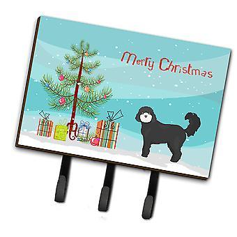 Zwarte cockapoo kerstboom leiband of sleutelhaak