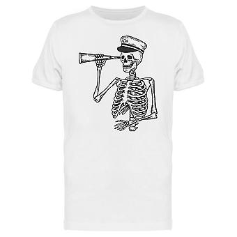 Captain Skeleton With Telescope Tee Men's -Image by Shutterstock