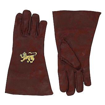 Medieval Knight Renaissance Crusader King Arthur Brown Mens Costume Gloves