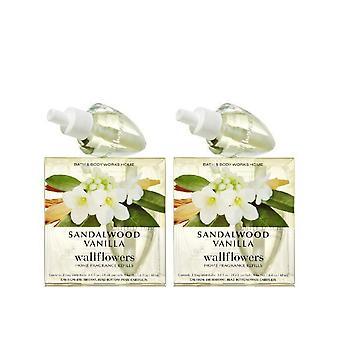 Bad & lichaam werkt sandelhout vanille Wallflowers Refill lamp (2 pack)