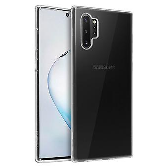 Silicone case, Glossy & matte back cover for Samsung Galaxy Note 10 Plus Clear