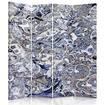 Room Divider, 4 Panels, Double-Sided, Rotatable 360, Canvas, Marble, Mosaic