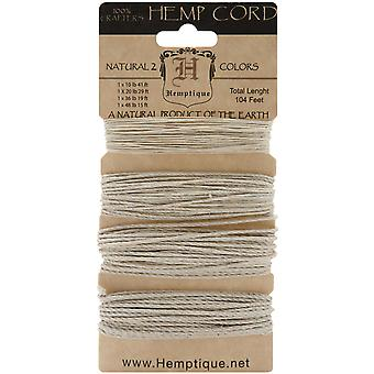 Hemp Cord Assortment 104 Feet Pkg Natural Hcmwna