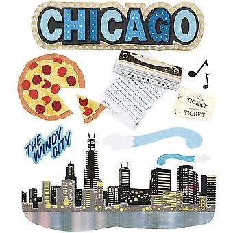 Jolee's Boutique Dimensional Destination Sticker Chicago Spje 021
