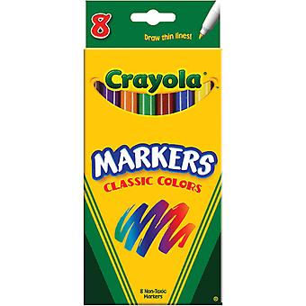 Crayola Fine Line Markers Classic Colors 8 Pkg 58 7709