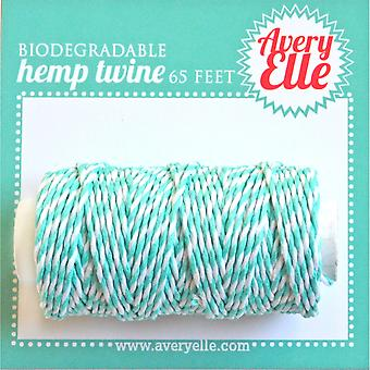 Avery Elle Hemp ficelle 65ft-Aquamarine T16-06