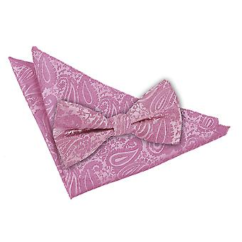 Paisley Baby Pink Bow Tie 2 pc. Sæt