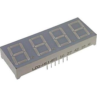 Seven-segment display Green 7 mm 2.2 V No. of digits: 4