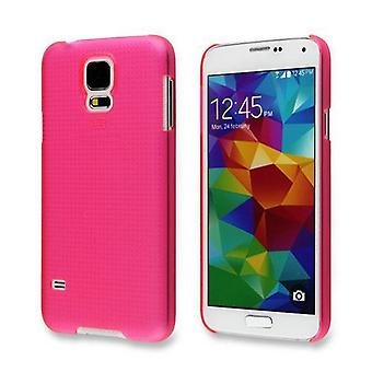 Translucent cover for Samsung Galaxy S5 i9600 G900 (Pink)