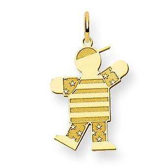 14k Gold Kid Charm - .8 Grams