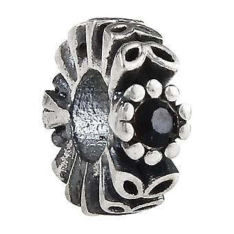 Sterling silver spacer with zirconia SS2795-28