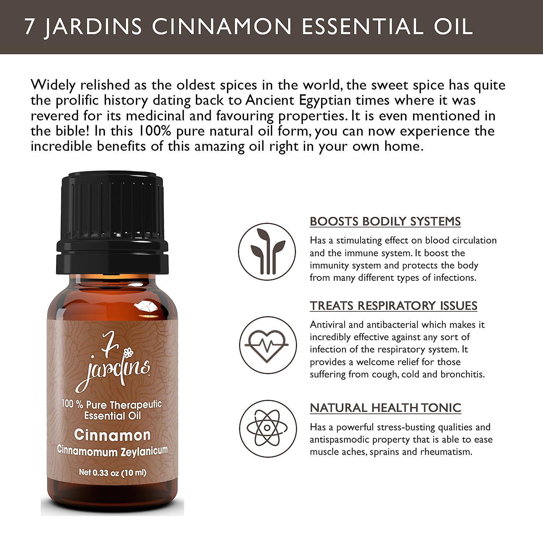 Cinnamon essential oil cinnamomum zeylanicum 100 pure for 7 jardins premium peppermint 100 pure natural therapeutic grade essential
