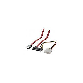 EXC 2-in-1 SATA cable with Molex power connector 0-5 m
