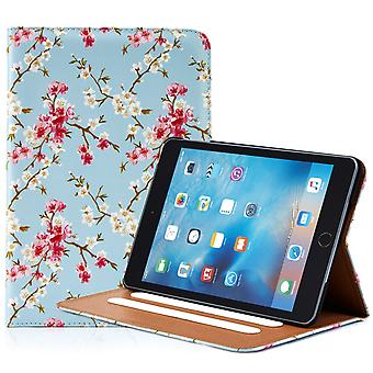 32nd Floral Design folio case for Apple iPad Mini 4 - Spring Blue