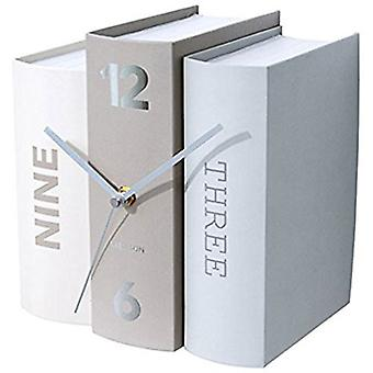 Karlsson White and Grey Book Table Clock