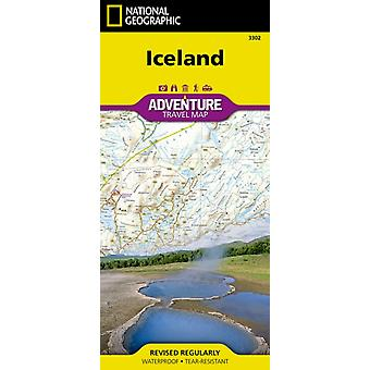 Iceland adv. ng r/v (r) wp (Adventure Map (Numbered)) (Map) by National Geographic Maps