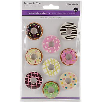 MultiCraft Handmade 3D Big Icon Stickers-Donuts SS802-L