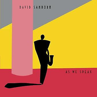 David Sanborn - As We Speak [CD] USA import