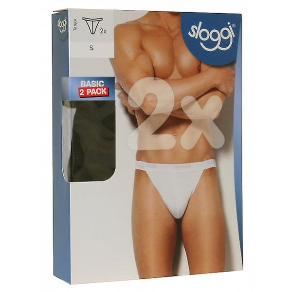 Sloggi 2-Pack Basic Tanga Briefs, Black