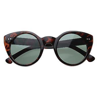 Nowoczesne Cateyes Vintage inspirowana koło Cat Eye okrągłe okulary / nity metalowe