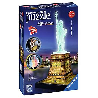 Ravensburger 3D Puzzle Statue Freedom Night Ed 108 Pieces