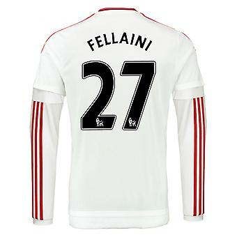 2015-2016 Man Utd Long Sleeve Away Shirt (Fellaini 27)