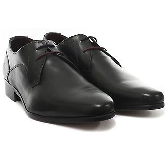 Londen Brogues Axton Derby zwarte Mens Lace Up schoenen
