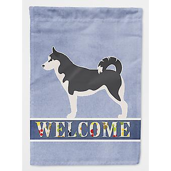 Carolines Treasures  BB5584GF Siberian Husky Welcome Flag Garden Size