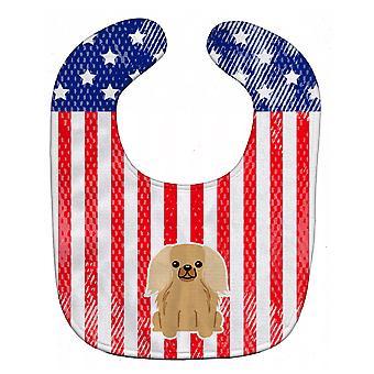 Каролинских сокровища BB3099BIB патриотических США Pekingnese олененком соболя ребенок нагрудник