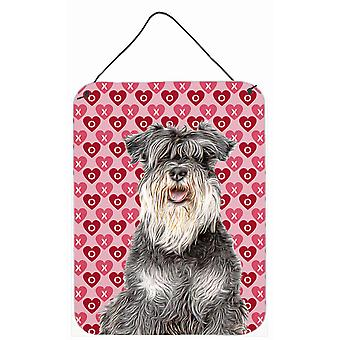 Hearts Love and Valentine's Day Schnauzer Wall or Door Hanging Prints