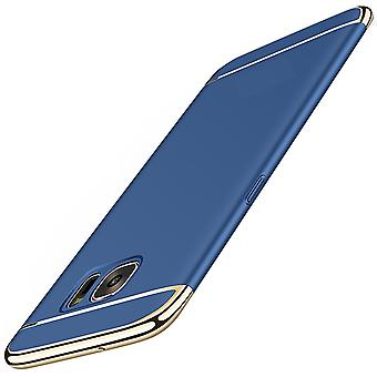 Cell phone cover case voor Samsung Galaxy S7 edge bumper 3 in 1 cover blauw