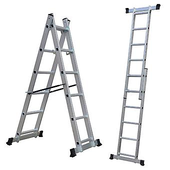 Charles Bentley 5 Way Combination Multi Purpose Aluminium Scaffolding Ladder Step Platform Free Delivery