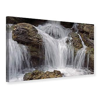 Canvas Print waterval XXL