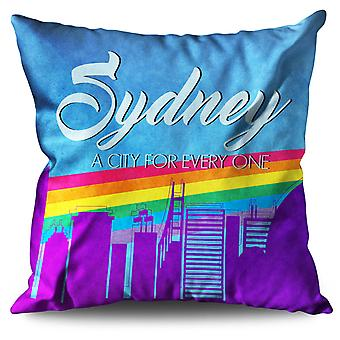 Pride Love Urban Sydney Linen Cushion Pride Love Urban Sydney | Wellcoda