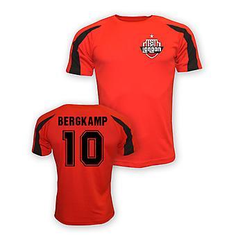 Dennis Bergkamp Arsenal formation Jersey Sport (rouge)